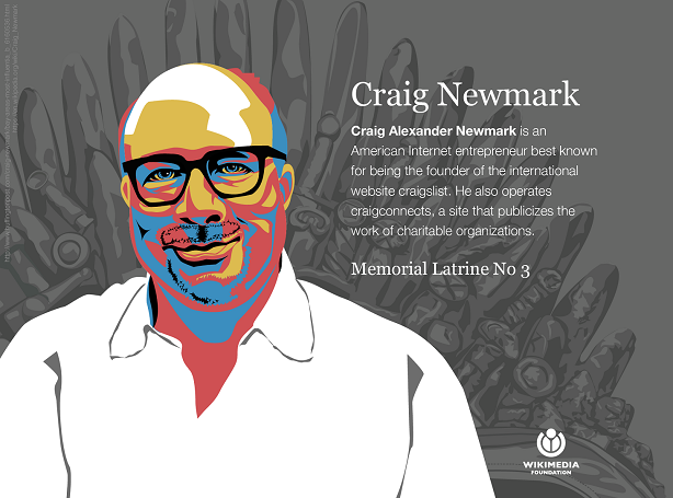 Supporting Wikipedia: the Craig Newmark Memorial Bathroom #3